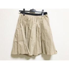 【中古】 ランバンオンブルー LANVIN en Bleu スカート サイズ38 M レディース ライトブラウン 黒