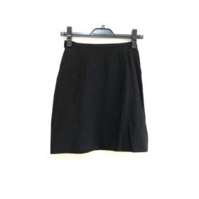 【中古】 エンポリオアルマーニ EMPORIOARMANI ミニスカート サイズ38 S レディース 黒