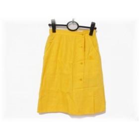 【中古】 バーバリーズ Burberry's スカート サイズS レディース イエロー