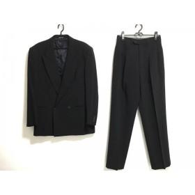【中古】 スタジオ フェレ STUDIO FERRE ダブルスーツ サイズ48 XL メンズ 黒