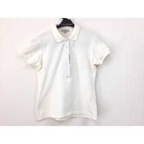 【中古】 バーバリー Burberry 半袖ポロシャツ サイズS レディース 白 ベージュ マルチ
