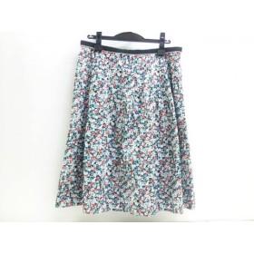 【中古】 アリスバーリー Aylesbury スカート サイズ15 L レディース アクアマリン マルチ