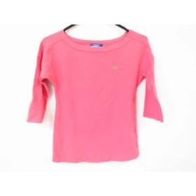 【中古】 バーバリーブルーレーベル Burberry Blue Label 七分袖Tシャツ サイズ38 M レディース ピンク