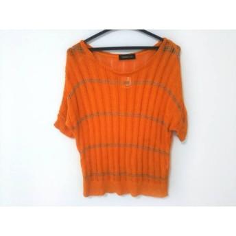 【中古】 ドレスキャンプ DRESS CAMP 半袖セーター レディース オレンジ