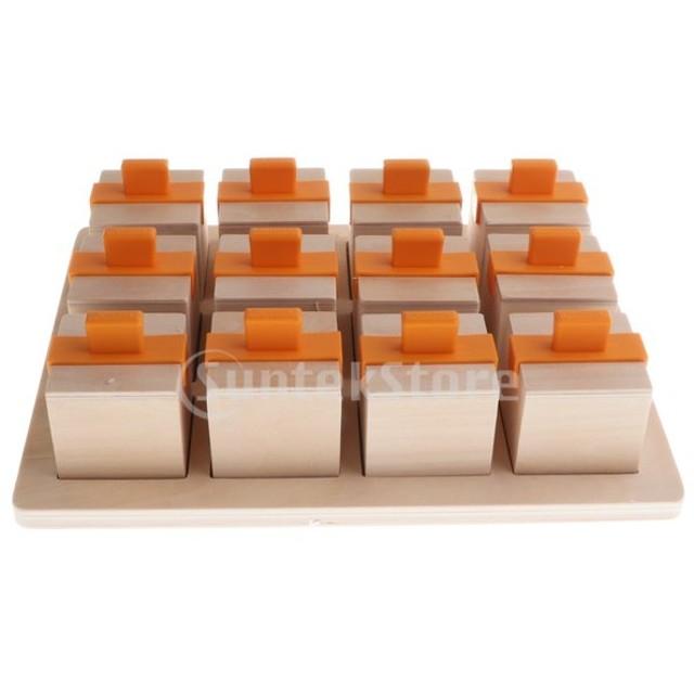 モンテッソーリ木製ベル音楽ビルディングブロック感覚記憶発達玩具