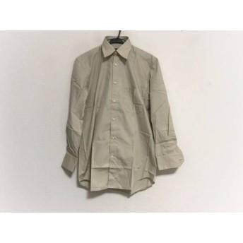 【中古】 ダナキャラン DONNAKARAN 長袖シャツ サイズ3915+ メンズ 新品同様 アイボリー