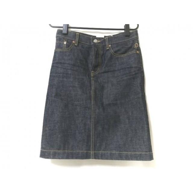 【中古】 ドレステリア DRESSTERIOR スカート サイズ36 S レディース ダークネイビー デニム