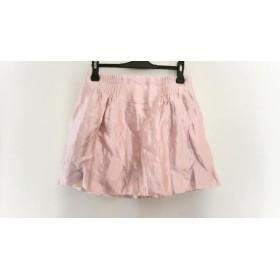 【中古】 ドゥロワー Drawer ミニスカート サイズ36 S レディース ピンク ギャザー
