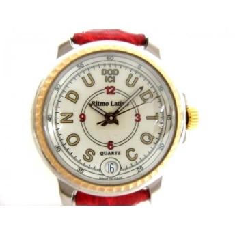 【中古】リトモラティーノ Ritmo Latino 腕時計 - レディース 革ベルト/型押し加工 アイボリー