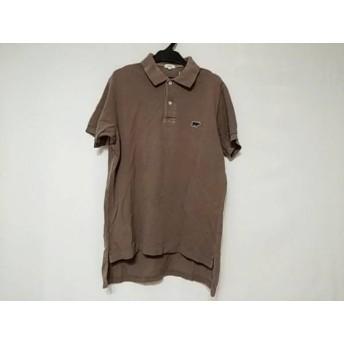 【中古】 サイ SCYE 半袖ポロシャツ サイズ40 M メンズ グレー ベージュ ダークネイビー