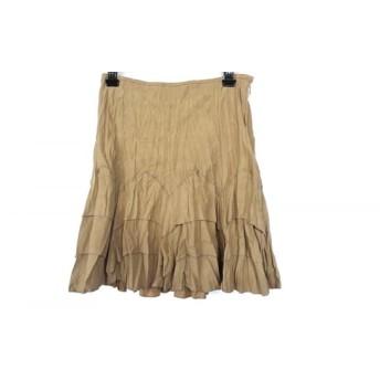 【中古】 アプワイザーリッシェ Apuweiser-riche スカート サイズ2 M レディース 美品 ベージュ