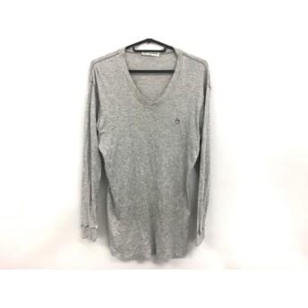 【中古】 マンシングウェア Munsingwear 長袖Tシャツ サイズLA メンズ グレー