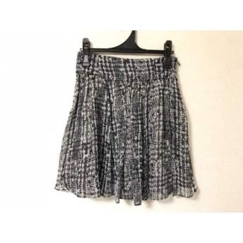 【中古】 イエナ スローブ IENA SLOBE ミニスカート サイズ38 M レディース 黒 アイボリー