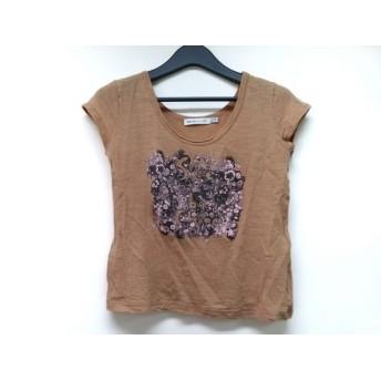 【中古】 シーバイクロエ 半袖Tシャツ サイズ38(I) S レディース ライトブラウン ダークグレー ピンク