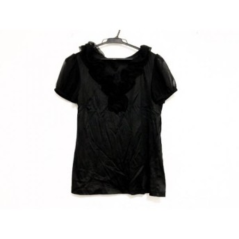 【中古】 エムプルミエブラック M-premierBLACK 半袖カットソー サイズ38 M レディース 黒 フリル