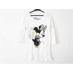 【中古】 ジョイリッチ JOYRICH 七分袖Tシャツ サイズS レディース 白 黒 マルチ ディズニー