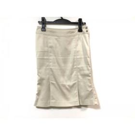 【中古】 マテリア MATERIA スカート サイズ36 S レディース 美品 アイボリー