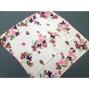 【中古】 バーバリー Burberry スカーフ 美品 ピンク パープル マルチ 花柄