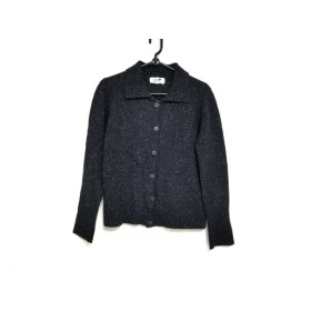 【中古】 ニジュウサンク 23区 ジャケット サイズ38 M レディース 黒 白 ニット