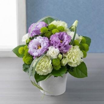 【故人を偲ぶ、お悔みの花】アレンジメント「花明かり(藤色重ね)」