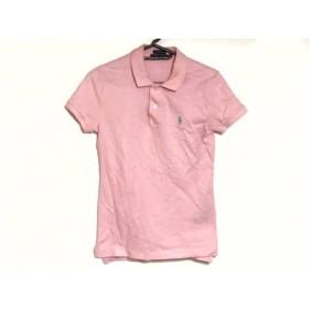 【中古】 ラルフローレン RalphLauren 半袖ポロシャツ レディース ピンク