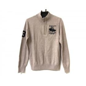 【中古】 ポロラルフローレン POLObyRalphLauren 長袖セーター サイズS メンズ ベージュ 黒