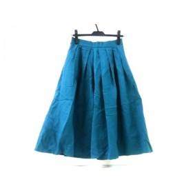 【中古】 ヴィス VIS ロングスカート サイズL レディース ブルーグリーン