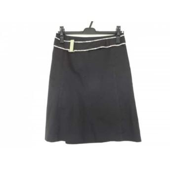 【中古】 バーバリーブルーレーベル Burberry Blue Label スカート サイズ36 S レディース 黒