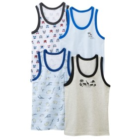 綿100%ランニングシャツ4枚組(男の子 子供服) キッズ下着