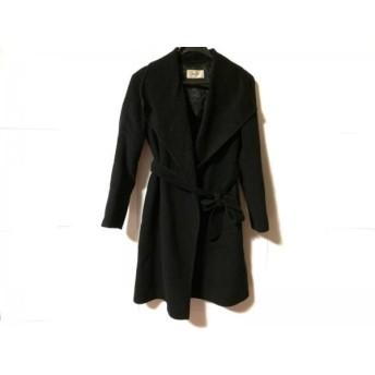 【中古】 ボールジー BALLSEY コート サイズ38 M レディース 黒 内側にボタンあり/冬物
