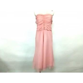 【中古】 セラヴィ CEST LAVIE ドレス サイズ11 M レディース 美品 ピンク シースルー