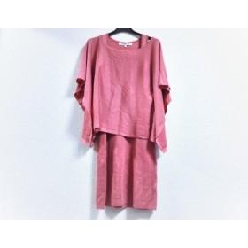 【中古】 ピンキー&ダイアン ワンピースセットアップ サイズ38 M レディース 美品 ピンク ニット/ラメ