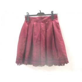 【中古】 レストローズ L'EST ROSE スカート サイズMT レディース ボルドー