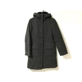【中古】 マカフィ MACPHEE コート レディース ダークグレー ジップアップ/冬物