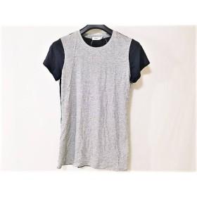 【中古】 ヴィンス VINCE 半袖Tシャツ サイズXS レディース 美品 グレー ダークネイビー