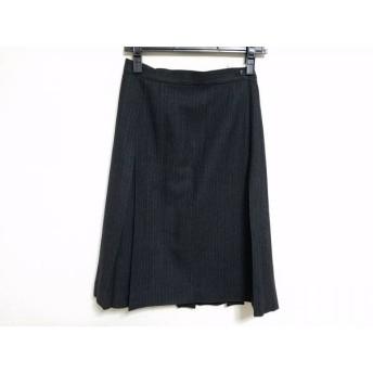 【中古】 マーガレットハウエル 巻きスカート サイズ2 M レディース ダークグレー グレー ストライプ