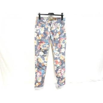 【中古】 ノーブランド パンツ サイズ42 L レディース ネイビー マルチ