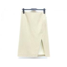 【中古】 アンタイトル UNTITLED スカート サイズ9 M レディース ベージュ ホワイト