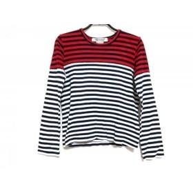 【中古】 コムデギャルソン コムデギャルソン 長袖Tシャツ サイズXS レディース 黒 白 レッド ボーダー