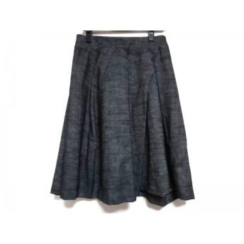 【中古】 ヒロコビス HIROKO BIS スカート サイズ9 M レディース ダークグレー