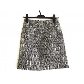 【中古】 クイーンズコート QUEENS COURT スカート サイズ1 S レディース 白 黒 グレー ツイード