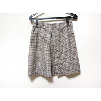 【中古】 イエナ IENA スカート サイズ36 S レディース アイボリー ブラウン ライトブルー