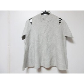 【中古】 ムルーア MURUA 半袖Tシャツ サイズF レディース ライトグレー