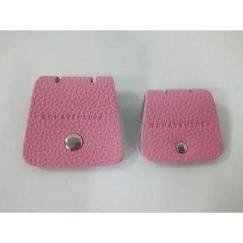【中古】 ボナベンチュラ BONAVENTURA 小物 美品 ピンク ケーブルホルダー2点セット(大・小) レザー
