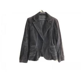 【中古】 バーバリーブルーレーベル Burberry Blue Label ジャケット サイズ38 M レディース 黒 ベロア