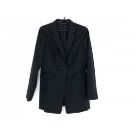 【中古】 アナイ ANAYI ジャケット サイズ36 S レディース 黒 ロング丈/肩パッド