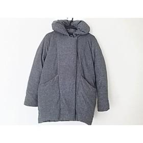 【中古】 エモダ EMODA ダウンジャケット サイズS レディース グレー 冬物/ジップアップ