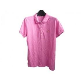 【中古】 ナパピリ NAPAPIJRI 半袖ポロシャツ サイズM レディース ピンク 刺繍/ビーズ