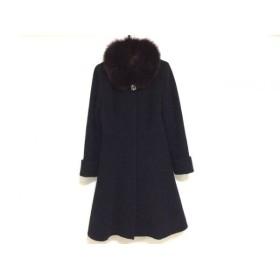 【中古】 ジャスグリッティー JUSGLITTY コート サイズ1 S レディース 黒 冬物/ファー