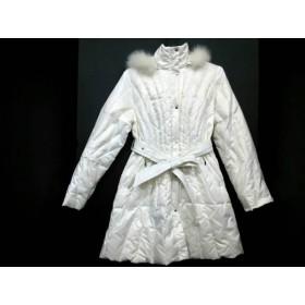 【中古】 ギンザマギー MAGGY ダウンコート サイズ38 M レディース アイボリー 白 冬物